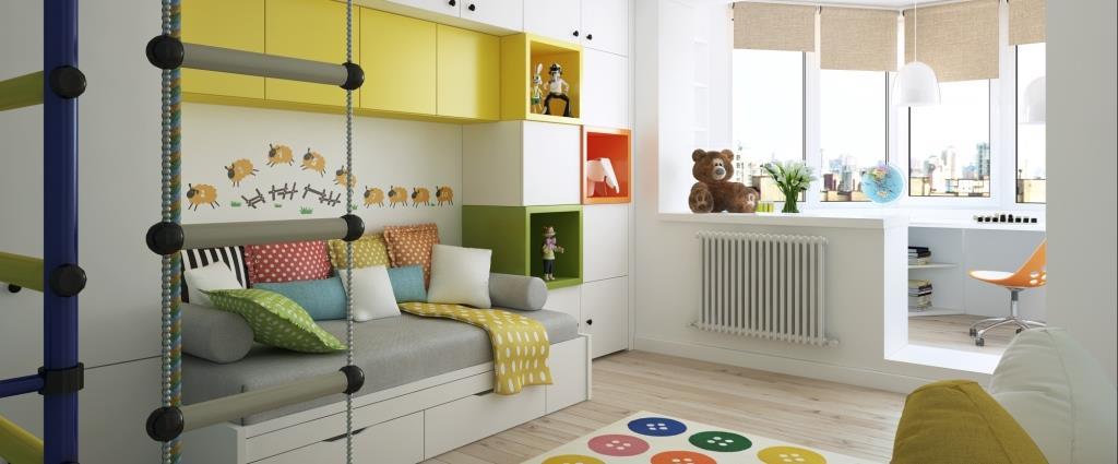 Детская комната разноцветная от мебельной фабрики